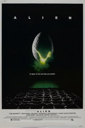 Alien graphic design movie poster