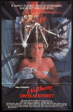 Nightmare on Elm Street movie poster graphic design