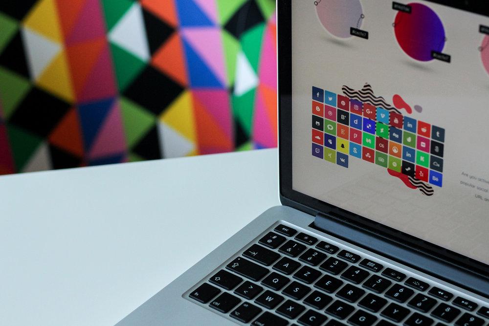 Graphic design colourful branding