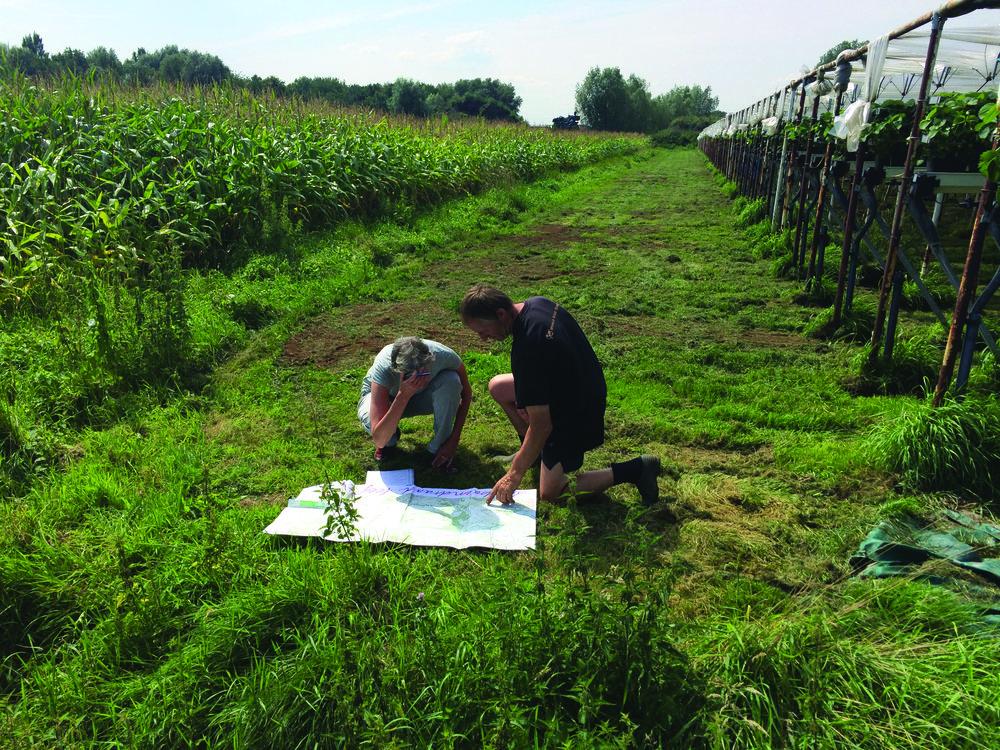 traject bepalen met een landbouwer