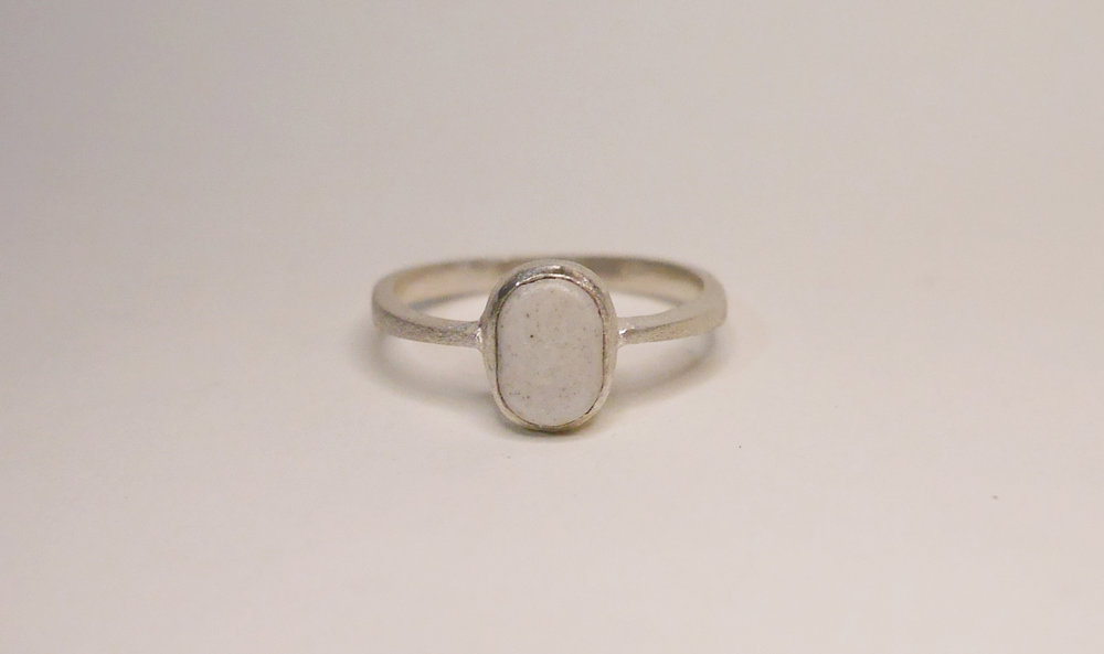 Louisa Ring(Stone) - Available at Loop. Store & Manila ArtpostSterling silver ring with bezeled stoneware.Comes in sizes 4.5, 5, 6 & 7