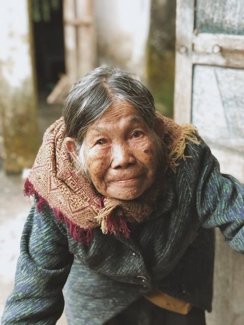 The face of a survivor. Photograph by Lucia Tai.