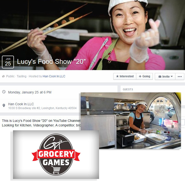"""We work with chefs, owners & operators of all sizes. - Food Buggy customer Lucy Seo (Owner of Han Cook In LLC) on Guy's Grocery Games (Season 10 Ep. 7 """"Spice Master"""") on Food Network.Work With Us ➝"""