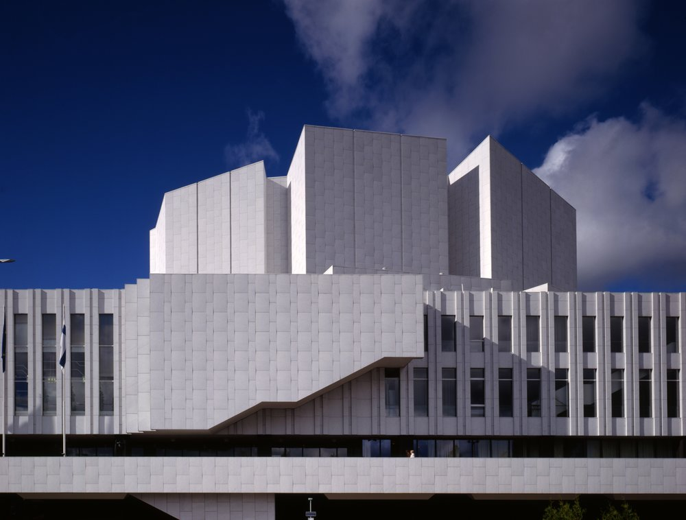 Finlandia, Concert Hall og Convential Centre Helsinki, Alvar Aalto. Billede: Alvar Aalto Museum.