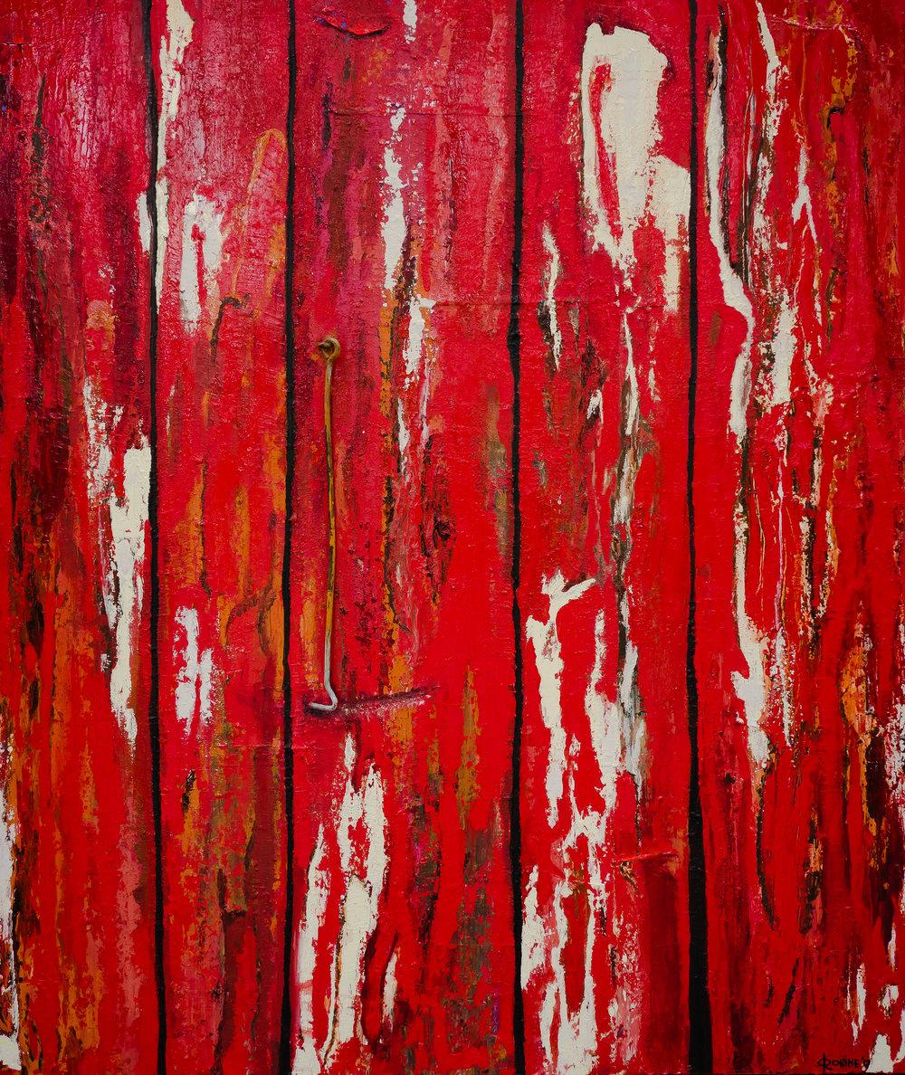Rode deur abstract