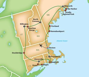 Autumn in New England - Saturday, September 28 - Sunday, October 6, 2019Motor Coach Tour