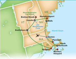 New England & Cape Cod - Thursday, October 3 - Thursday, October 10, 2019Motor Coach Tour