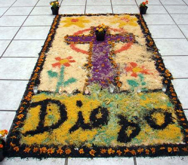 A flower carpet for artist Diego Rivera