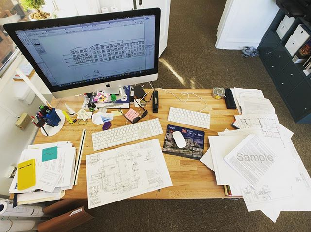 Starting the day with a desk that looks like this is not a recipe for success.... #frommydesk #architectproblems #whatanarchitectdoes