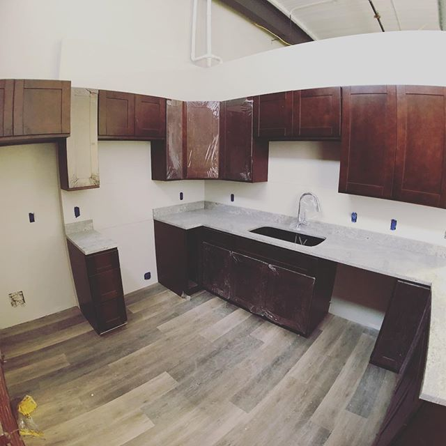 Kitchens are starting to come together on our #Pac10 project in Lawrence, Mass.  #historicpreservation #affordablehousing #rehab #whatanarchitectdoes #iphone8 @moment #fisheyelens