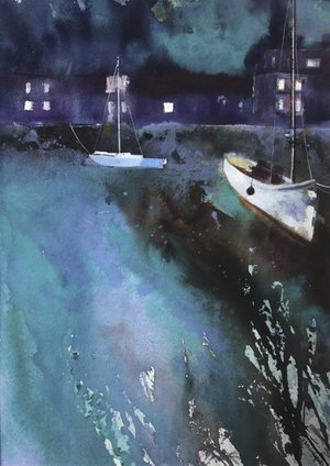 Christine Lockwood 'Evening Light in Padstow'