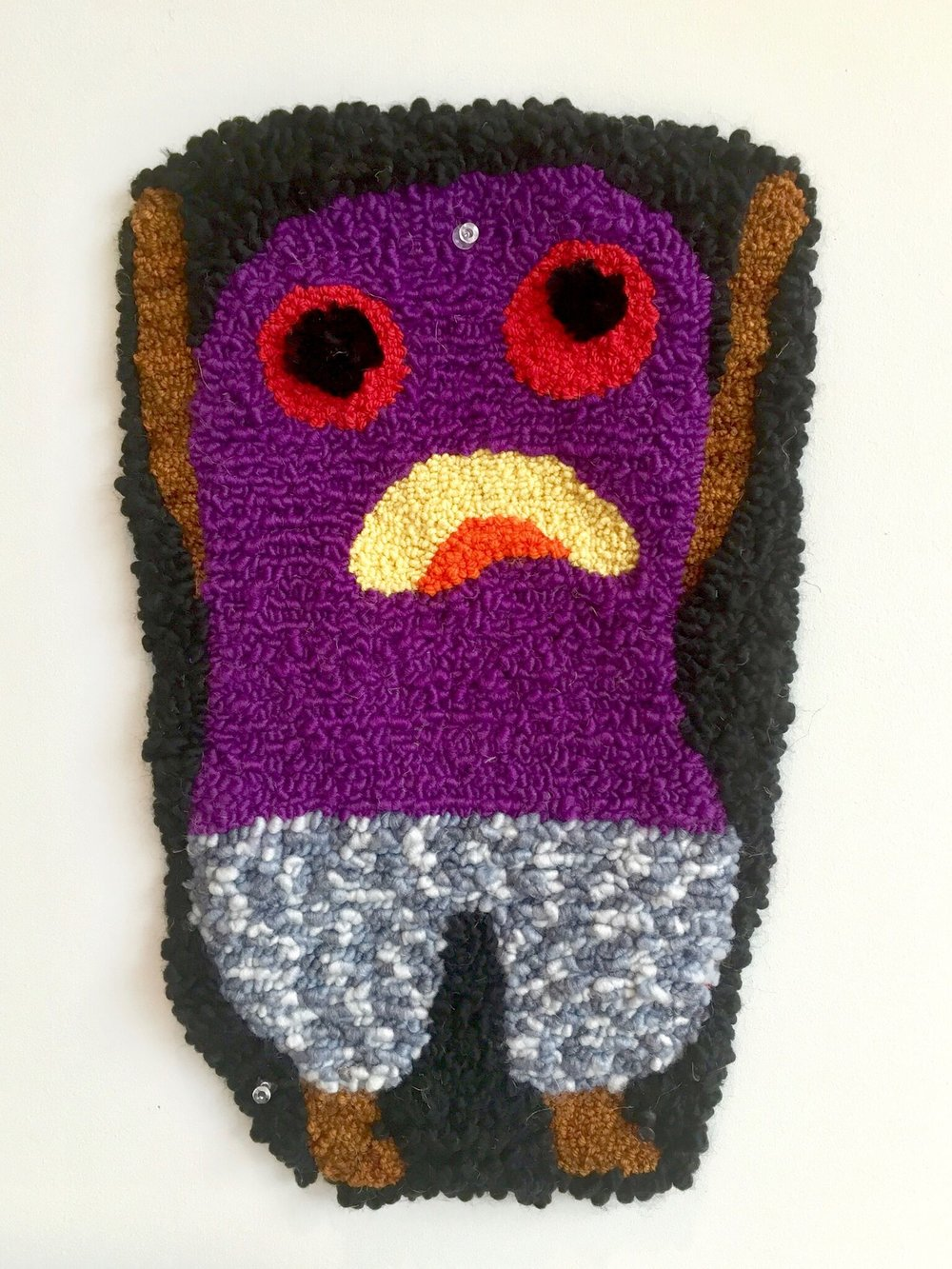 Help me!  wool, acrylic, burlap  dimensions not recorded  2016