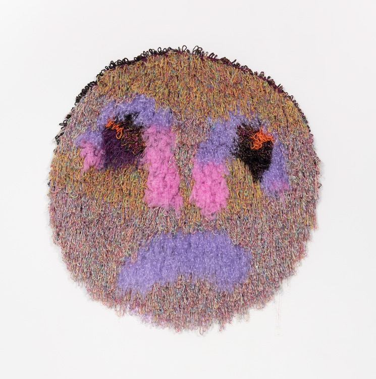 """The Saddest Planet In The System  Wool, Acrylic, Polyester, Nylon, Burlap  46"""" X 47""""  2018"""