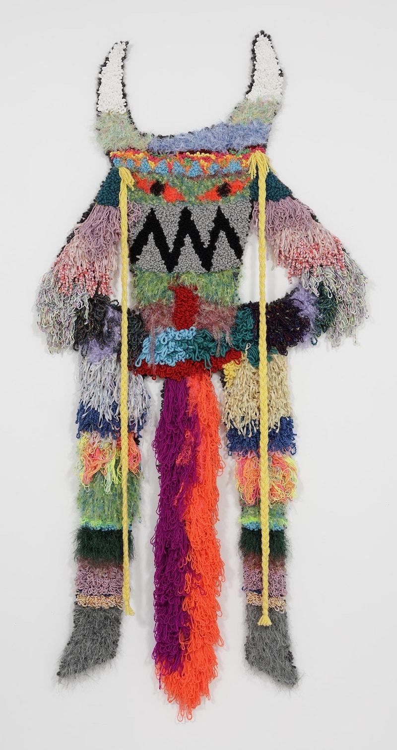 "Esmerelda  Wool, Acrylic, Polyester, Viscose, Burlap  98"" X 47""  2018"
