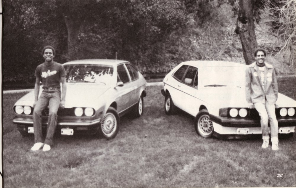 1980-BJ-Brent and Car, with friend and car, Senior Yearbook.jpg