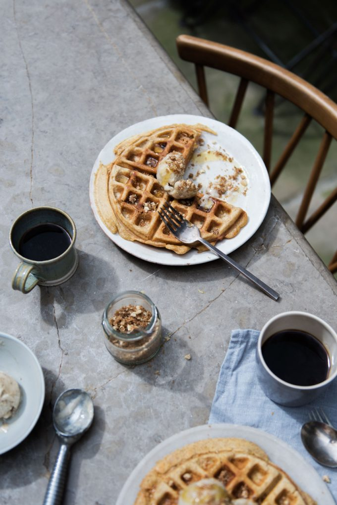 VOGUE RECIPE-BANANA, PEANUT BUTTER, COCONUT MILK WAFFLES