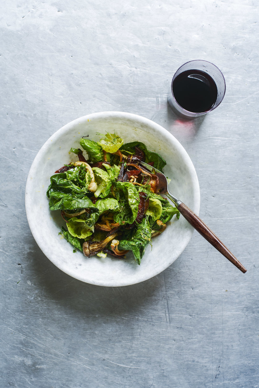 sprout top chorizo and mushroom salad