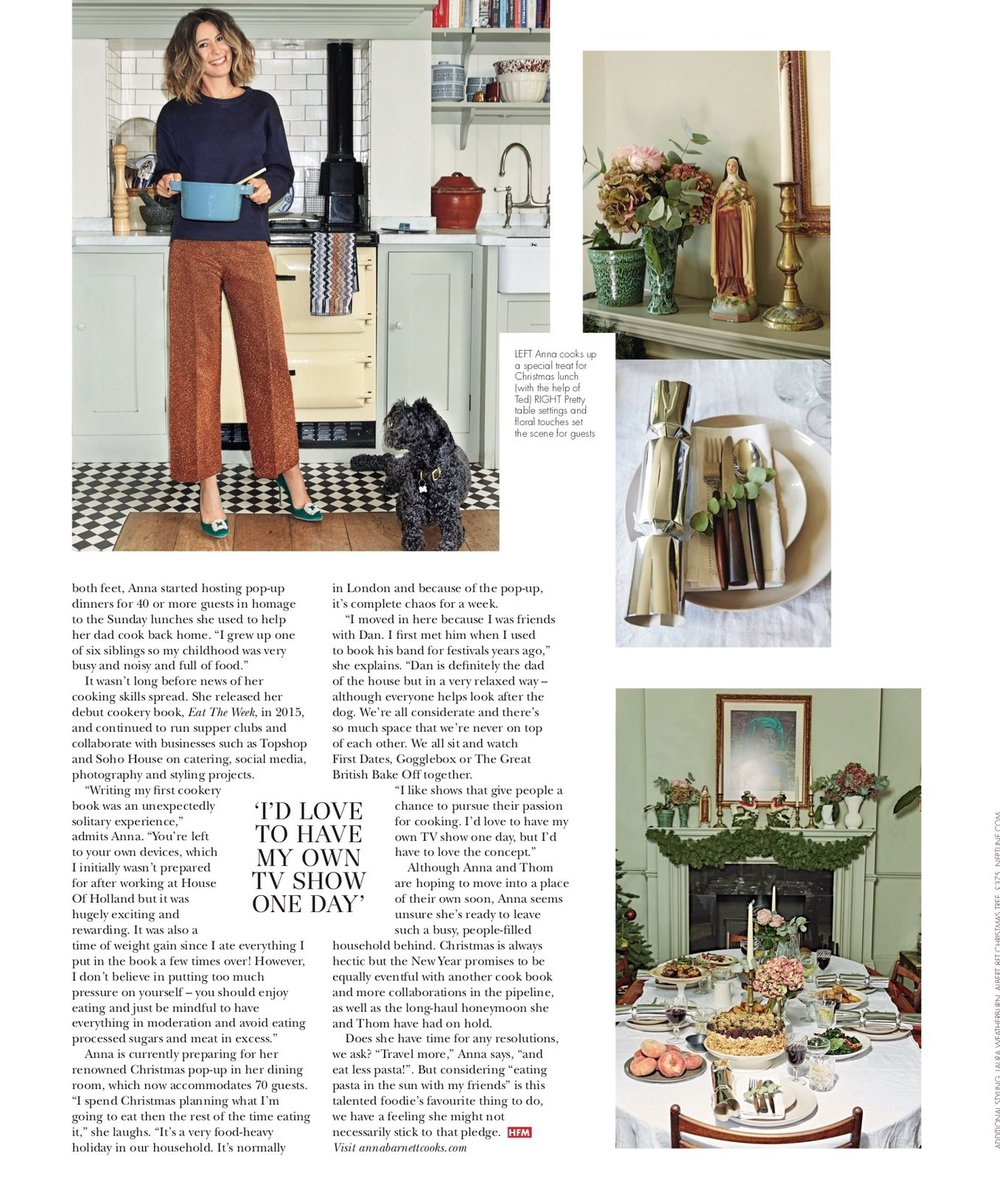 hello fashion monthly magazine: vegetarian christmas spread