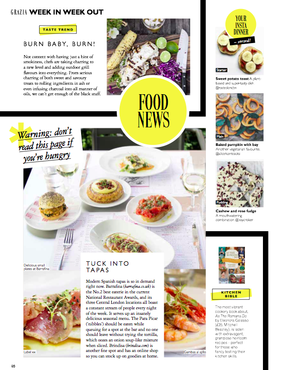 GRAZIA FOOD PAGES