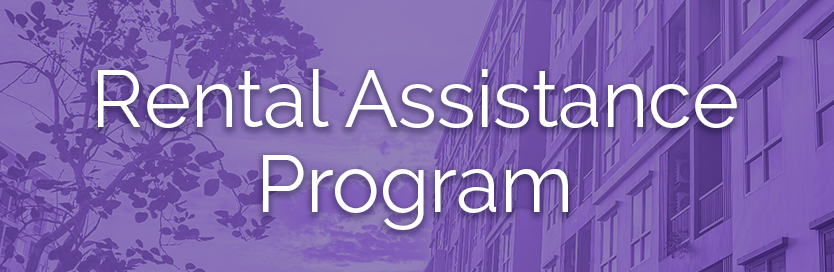 Rental assistance program button