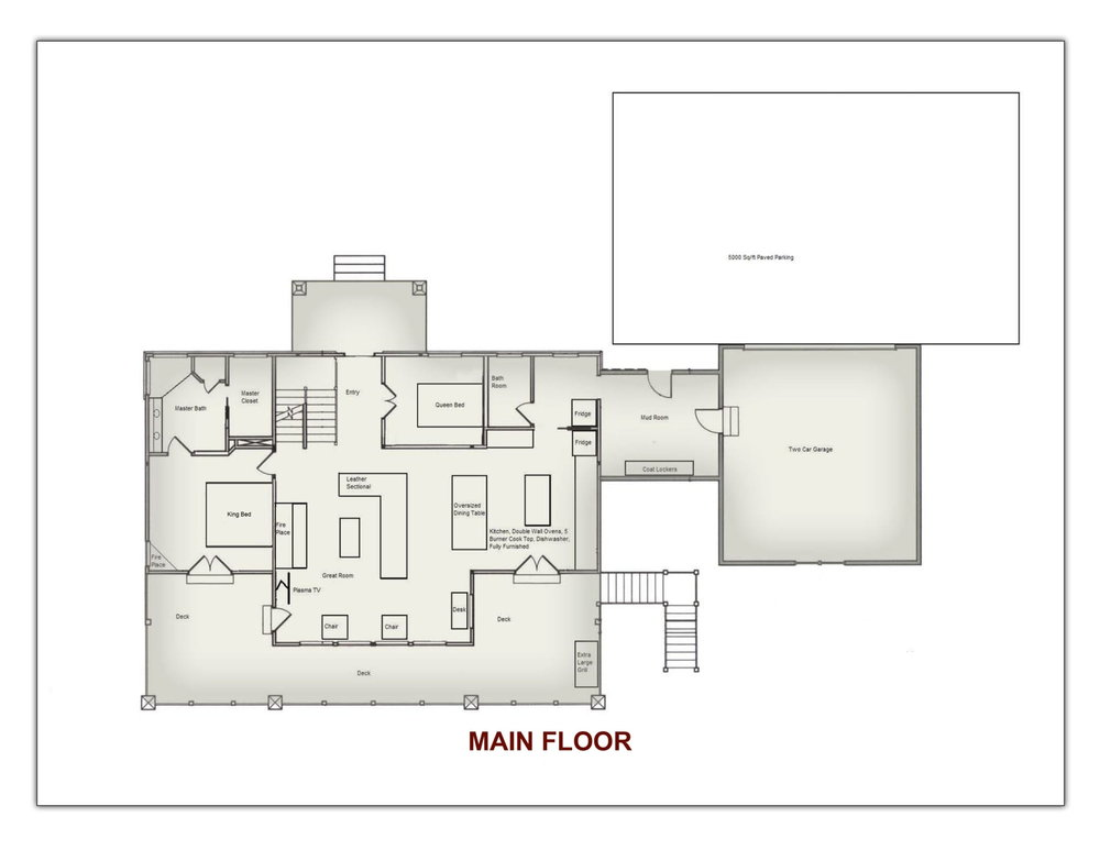 Stonefly Lodge Main Floor Floor Plan