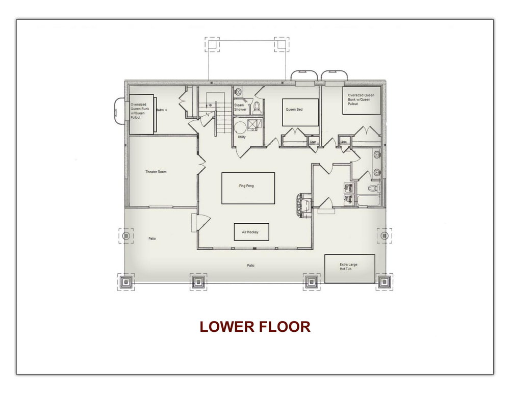 Stonefly Lodge Downstairs Floor Plan
