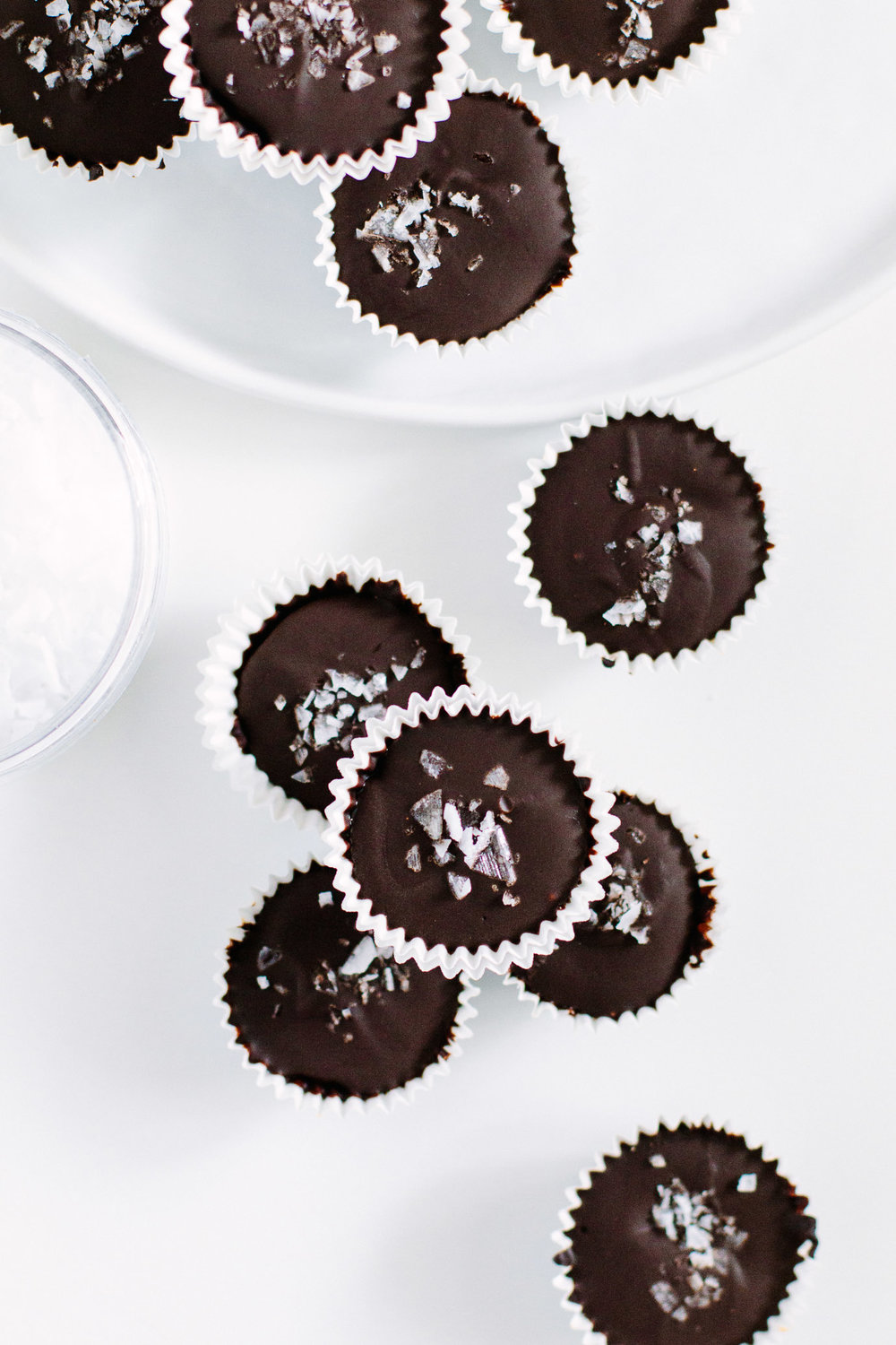 homemade peanut butter cups with dark chocolate