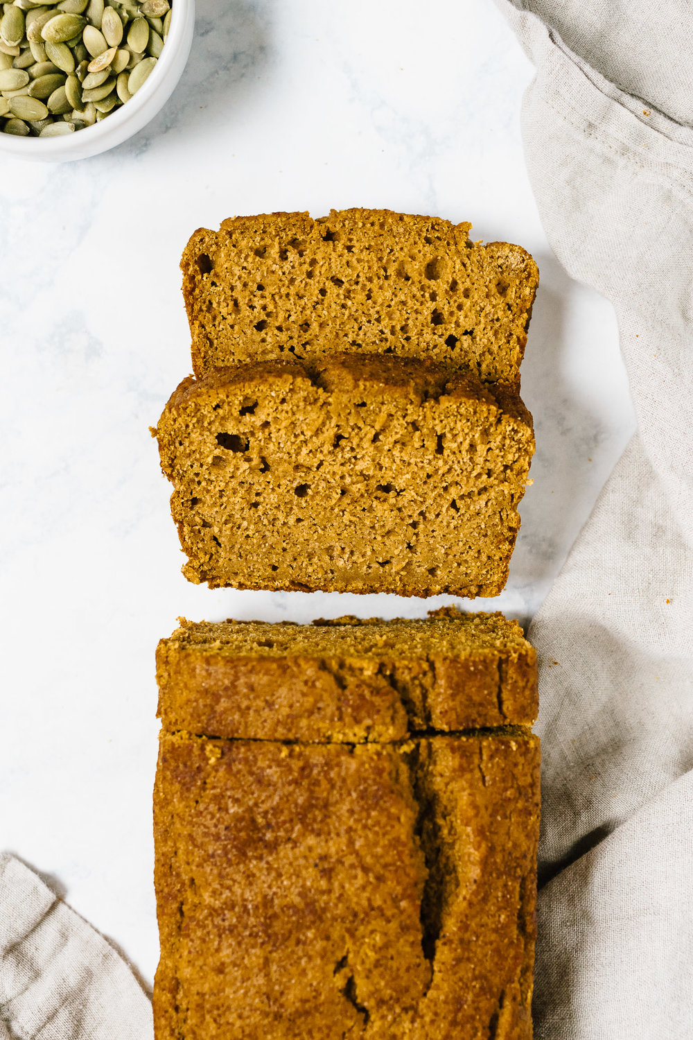 Healthy Pumpkin Bread Spelt Flour and Maple Syrup