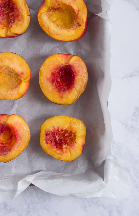 Nectarines with Cashew Cream