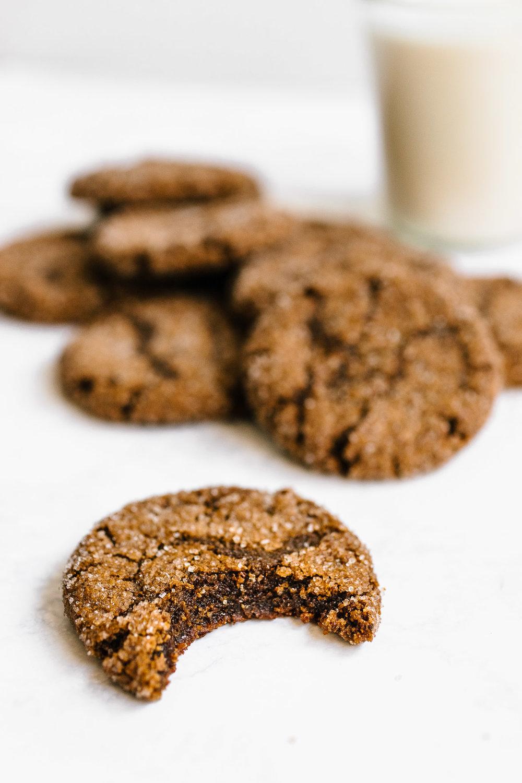 Flourless Almond Butter Molasses Cookies
