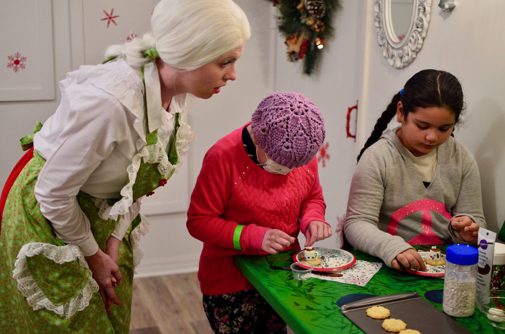 Making Santa's favorite cookie with Mrs. Claus.