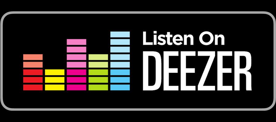 Image result for listen on deezer badge