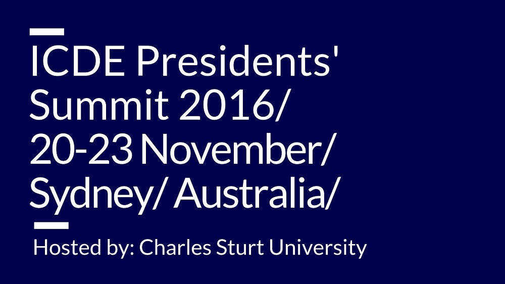 ICDE Presidents' Summit 2016: Conference Proceedings — ICDE