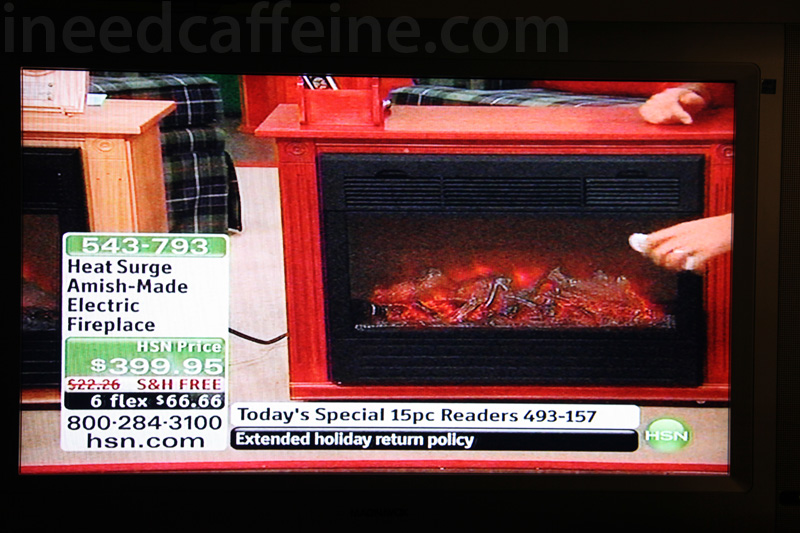 High tech amish electric fireplace