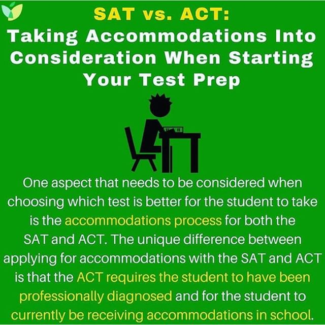 Excellent #testprep advice for students thinking about taking the #sat and/or #act who will need accommodations to take these tests from @followivywise. @CollegeBoard @ACTStudent - - #testprep #testing #accommodations #college #collegeprep #collegeapplications #disability #collegecounseling #collegecounselor #drapercollegecounsulting