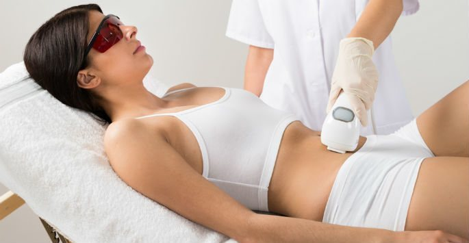 CoolSculpting Treatment patient