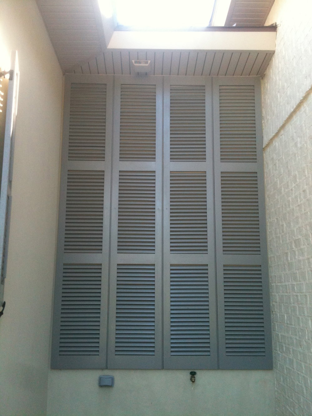 Fixed Louvered Shutters