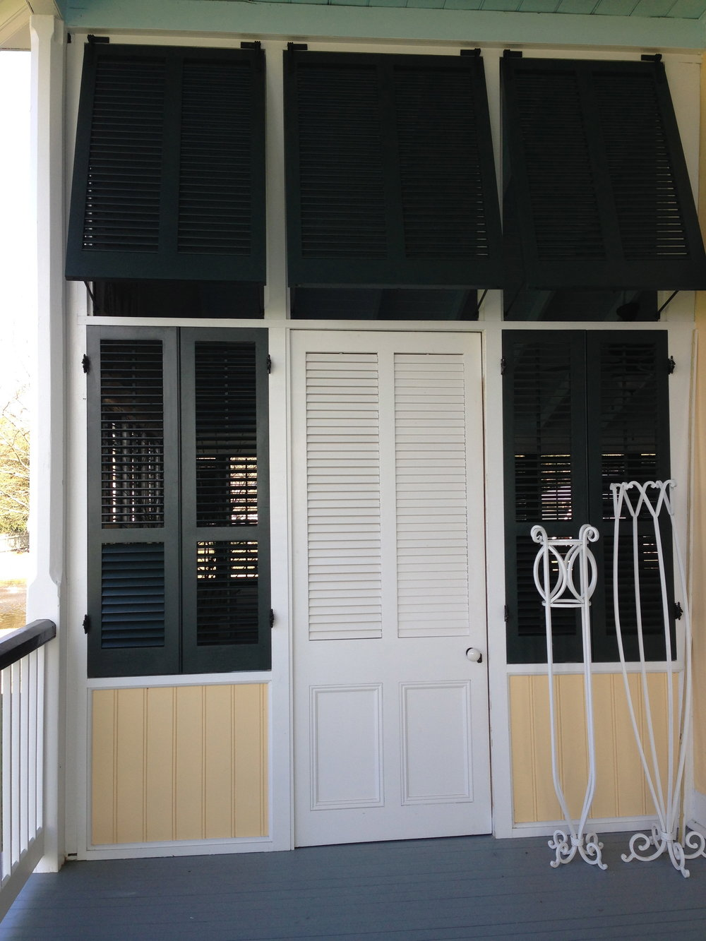 Bahama and traditional louvered