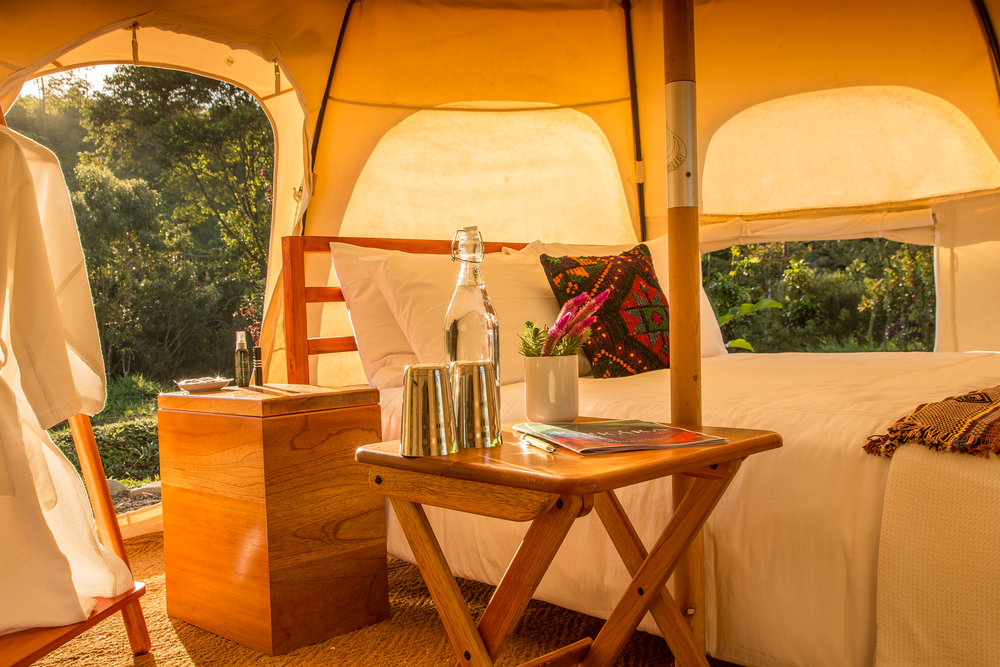 Luxury immersed in nature. Lotus Belle Tents