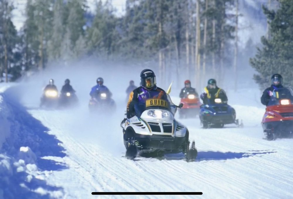 taking to the trails on the sleds