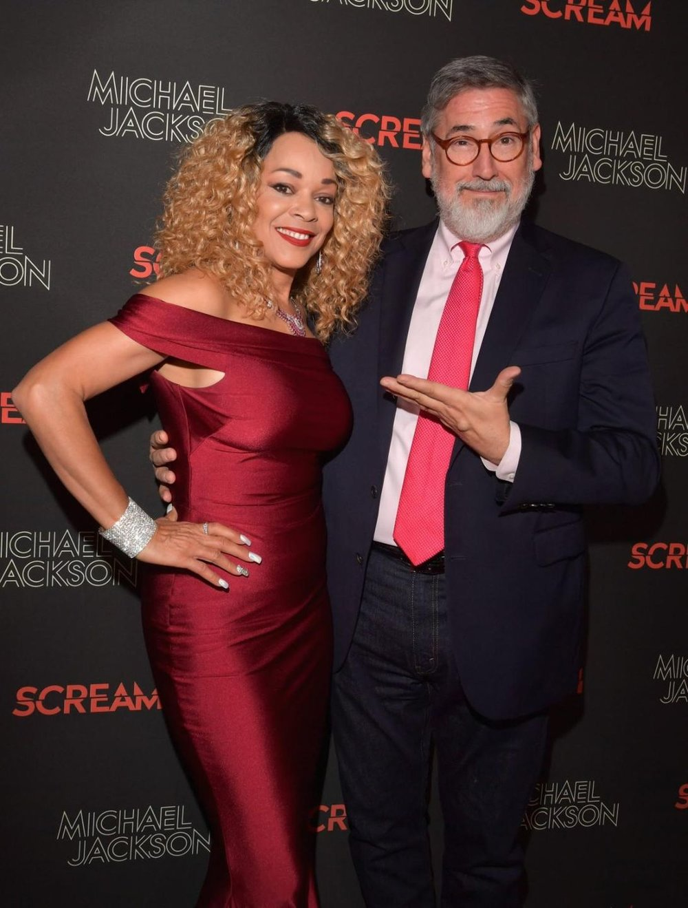 Ola Ray and director John Landis.jpg