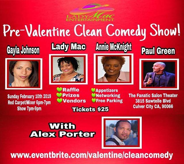 Pre-valentine clean show. Conedy show 2/10! Hope u can come
