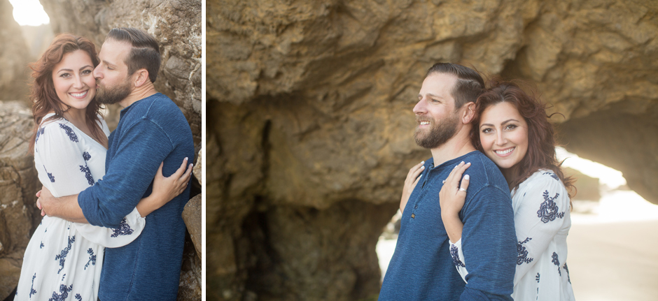 Malibu Beach Engagement Session with Taylor and Justin