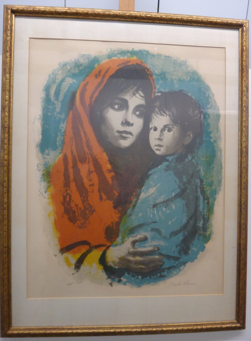 "Title: Untitled  Medium: Lithograph on Paper  Dimensions: 27"" x 21 1/2""  Framed: Yes  Price: Contact for Inquiry"