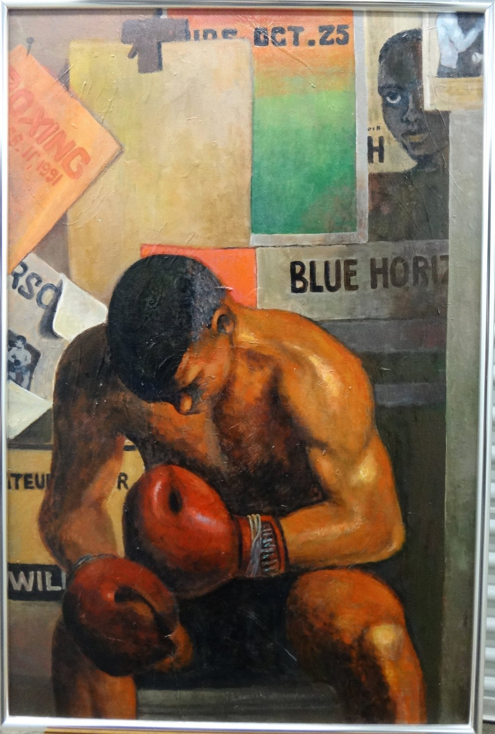 """Title: The Boxer  Medium: Acrylic on Canvas  Dimensions: 36 1/2"""" x 24 1/2""""  Framed: Contact for Inquiry  Price: Contact for Inquiry"""