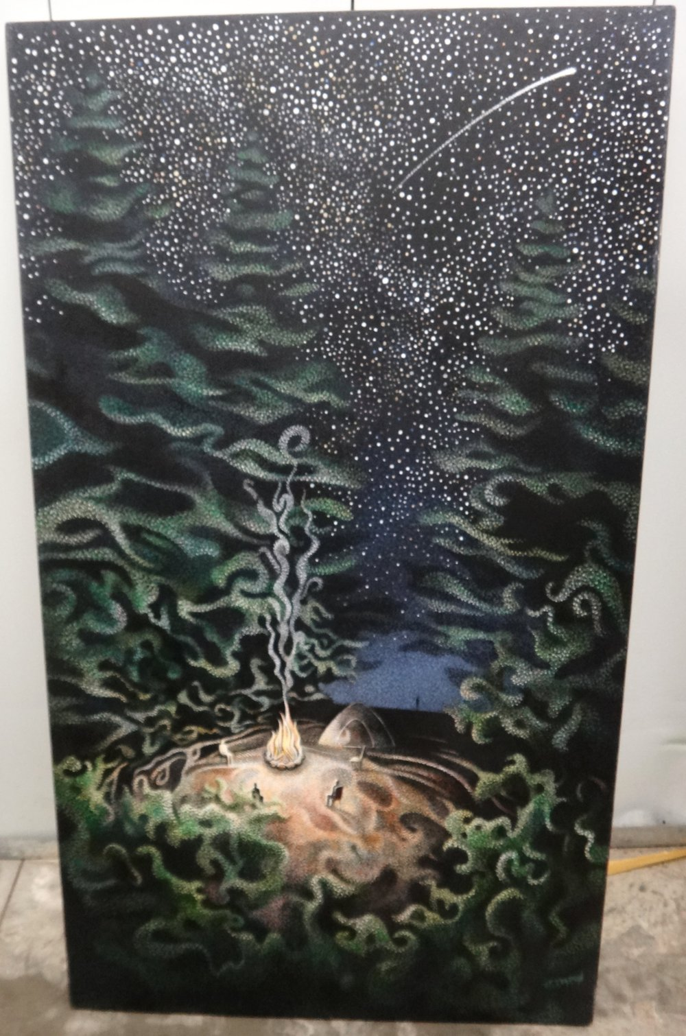"Title:Untitled  Medium: Acrylic on Canvas  Dimensions: 45"" x 26""  Framed: No  Price: Contact for Inquiry"
