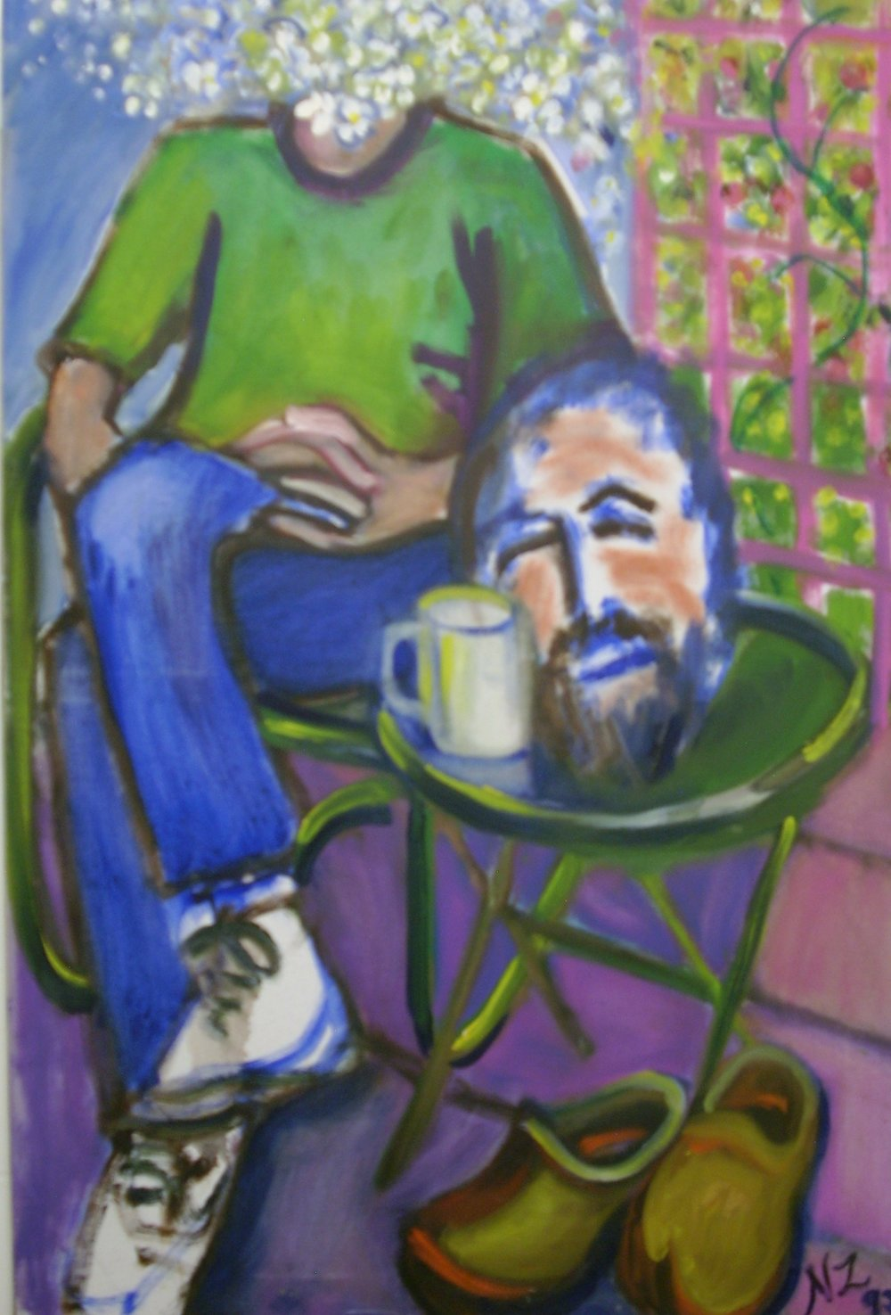"Title: Good Coffee  Artist:  Noelle Zeltzman   Medium: Oil on Canvas  Dimensions: 36"" x 24""  Price: Please contact us directly for pricing"