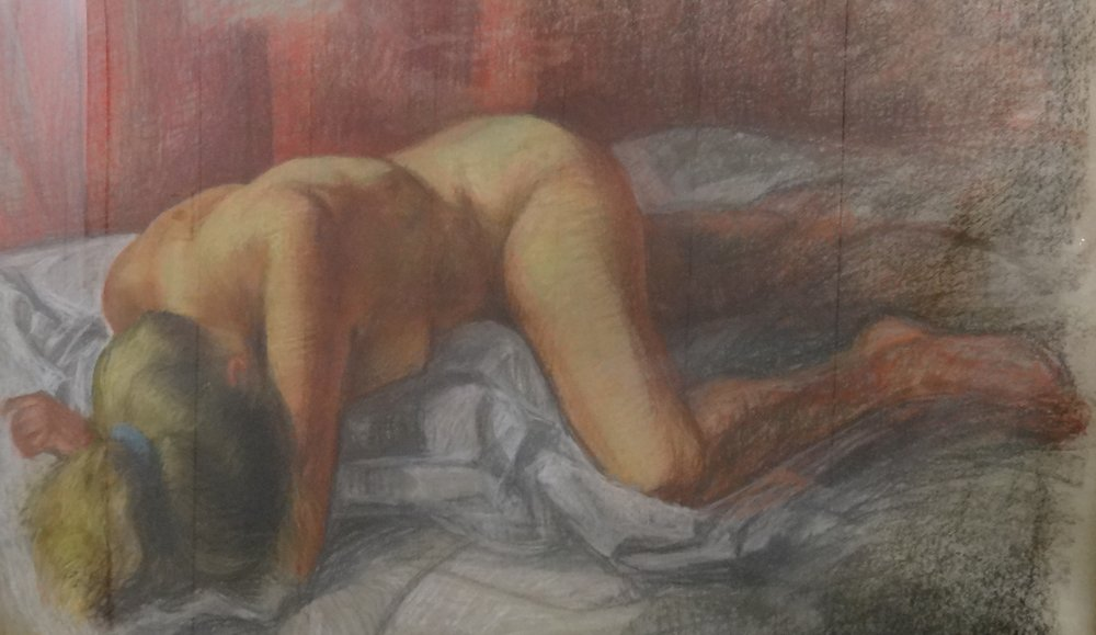 "Title: Untitled  Artist:  Richard T.   Medium: Pastel on Paper  Dimensions: 27"" x 43""  Framed: Yes  Price: Contact for Inquiry"