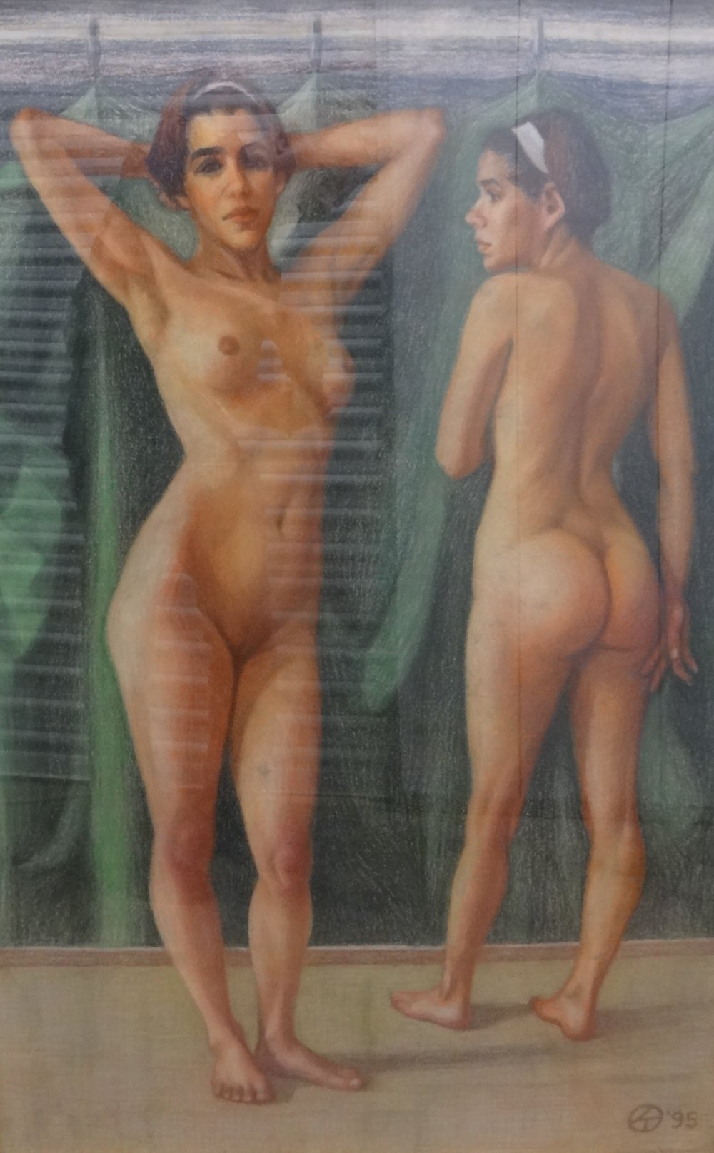 "Title: Untitled.  Artist:  Richard T.   Medium: Pastel on Paper  Dimensions: 43"" x 29 1/2""  Framed: Yes  Price: Contact for Inquiry"