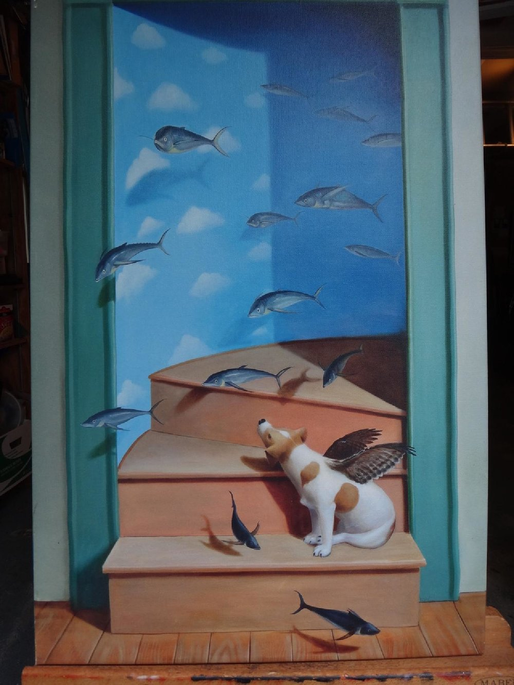 "Title:Something Fishy  Artist: Leslie Folksman  Medium: Archival Paper  Dimensions: 24"""" x 18""  Framed: No  Production Info: Signed & Numbered  Price: Contact for Inquiry"
